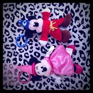 Brand new Minnie and Mickey keychains